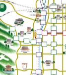 京都の観光イラストマップです。