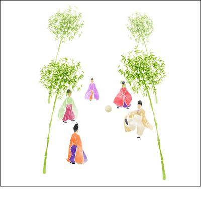 蹴鞠 樹木草木のイラスト動作しぐさのイラスト Skillots