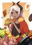 関西コミティア51で頒布したオリジナル本の表紙です。食べ物の表現にこだわりました。