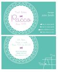 いろいろなジャンルにご利用いただける、名刺兼ショップカードデザイン。 お名前やお店の情報などを入れて、オリジナルをお作り致します。