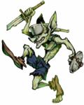 ゲームを想定した敵キャラクターのデザイン。