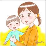 自分の絵の雰囲気にマッチすると思い、お母さんと子どもを描いてみました!