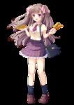 株式会社MUGENUP 「第130回 おやつ♡美少女!選べる萌え塗りコンテスト」 で着彩のサンプルとして使用して頂いたイラスト。