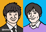 人気お笑い芸人の似顔絵イラストをシンプルなタッチで作成しました。