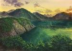 長崎県対馬の風景