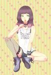 ロックテイストの女の子。
