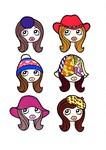 左上・ロイヤルな帽子、右上・テンガロンハット、左中・ニット帽、右中・チューリップハット、左下・女優帽、右下・ベレー帽