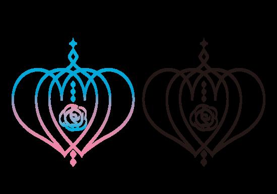 王冠とバラモチーフロゴマーク
