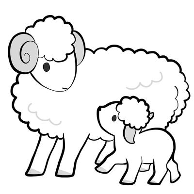 キリスト教 羊の親子 ほのぼののイラスト Skillots