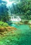 水の透明さや、夏の緑の鮮やかさが好きで描きました