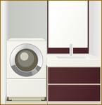 洗濯機と洗面台