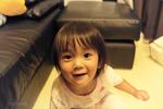 カメラに興味を示した彼女の笑顔は天使そのものでした。