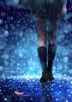 雨の中を歩く女の子の後ろ姿のイラストです。 小説の表紙をイメージして描きました。