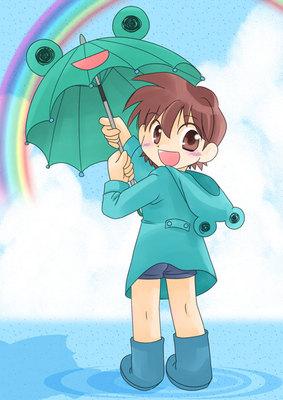 梅雨と少年のイラスト 基本 Skillots