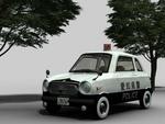 自主制作中のアニメに登場するパトカーです