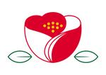 椿モチーフロゴマーク02です。椿の可愛らしさをシンプルに表見しています。花びらの合わせ部分に和服の襟合わせイメージを盛り込んでします。02は地色を赤と白に分け日本的な印象を強調しています。また左上部分のさりげないハートがポイントです。暖かさを感じられるロゴです。商品や企業などのロゴマークにいかがでしょうか。