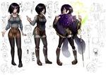 個人の創作作品に登場するキャラクターをデザインさせていただいた際のものです。 主人公の女の子、ファンタジー世界の住人です。もう一枚のユノとセットでの制作です。