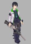 現代ファンタジー系のゲームに登場するようなキャラクターをデザインしてみました。
