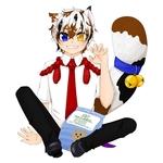 妖怪モチーフ擬人化 三毛猫の雄 服装デザインは他者が考えたものです。