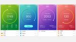 活動量計アプリケーション UIデザイン