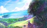 ファンタジーの風景、背景です。 こちらのイラストで20000円です