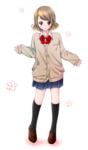 パーソナルワーク。 カーディガン姿の制服の女の子です