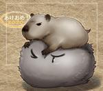 ネズミ(カピバラ)もどきモンスターです。
