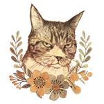 猫の線画はボールペンで描いています。リアル系の動物イラストのサンプルとしてご参照ください。