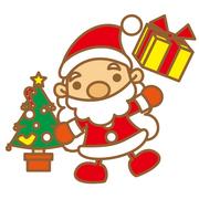 サンタとクリスマスツリー