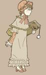 イギリスの絵本作家だったケイト・グリーナウェイのイラストから服装をデザインしました。