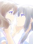 響けユーフォニアムの久美子と麗奈のラフ画に着色しました。