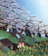 日本の四季・貼り絵画家・はざまえいじの作品
