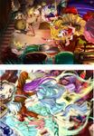 ファンタジーRPGのイメージイラストの発注を受けて描きました。