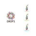Logo Design / ロゴデザイン  DROP'S アメ玉、しずく、一滴でもあり少量でもあるような。 宝石のような色んなカラー。 それぞれがある大事な大切な心のこもった一つ一つをイメージしたロゴデザイン。