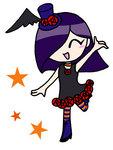 ゴスロリテイストの女の子キャラクター 、ハロウィン仕様