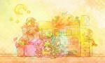 童話と幼稚園をコンセプトに絵本風のイラストを仕上げました