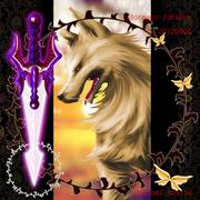 オオカミ犬と剣