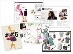 アパレル系フリーペーパー 「draft!6」 エディトリアル・グラフィック・写真・イラスト等 一冊全てのアートディレクション スポンサーはBEAMSやユナイテッドアローズ。全国各セレクトショップで配布