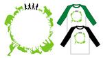 ユニバーサルミュージックのアーティスト、GReeeeNのラグランTシャツのデザイン