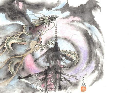 干支の龍の年賀状