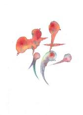 筆文字デザイン「花」