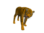 寅年年賀状用の虎の3DCGモデルです。