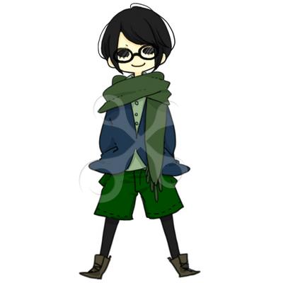マフラーのメガネ少年