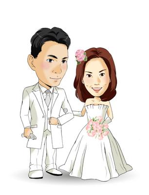結婚式用似顔絵