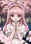 ※使用不可※ 桜の妖精のようなおんなのこをイメージ。 オリジナル作品『ヒトザクラ』登場予定キャラクター。 名前は花守。 画集きるしっかぷーに印刷予定。