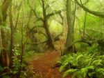 ゲーム用背景(森の中)