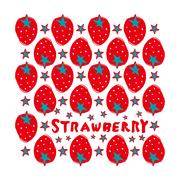 美容室strawberry様 12thノベルティグッズ-ハンドタオルのデザイン-