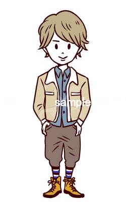 販売男の子冬服01 ポップのイラストかわいいのイラスト