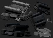 戦闘用小型宇宙船 - 素体モデル