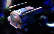 戦闘用小型宇宙船 - レンダリング